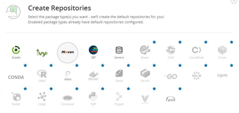 Artifactory create repository