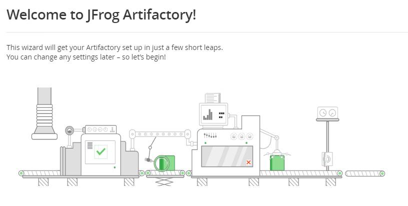 Artifactory Welcome screen